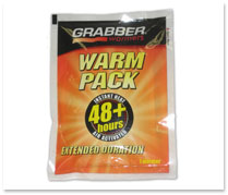 40+ Hour<br>Disposable Heat Packs<br><Font color=B40404>1-Pack</Font> HP48-1
