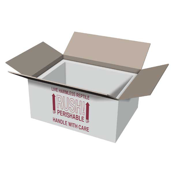 12x9x6 Insulated Shipping Box with 3/4 Foam IB12x9x6