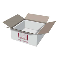 15x15x7 Insulated Shipping Box with 3/4 Foam IB15x15x6