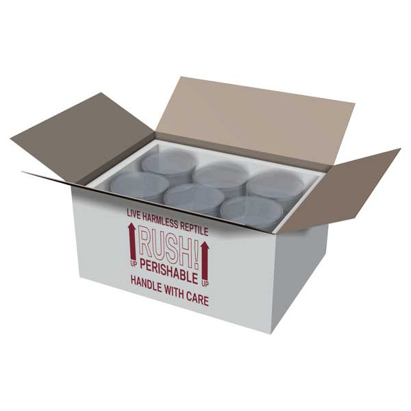 16x12x8 Insulated Shipping Box with 3/4 Foam - 5 pack IB16x12x85PK