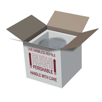 7x7x7 Insulated Shipping Box with 3/4 Foam - 5 pack IB7x7x75pk